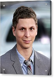 Michael Cera At Arrivals For Scott Acrylic Print by Everett