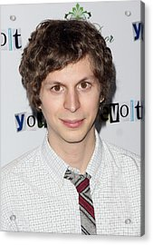 Michael Cera At Arrivals For Youth In Acrylic Print by Everett