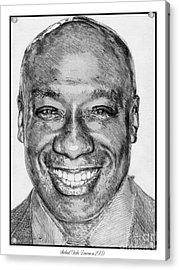 Michael Clarke Duncan In 2009 Acrylic Print by J McCombie