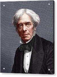 Michael Faraday, English Chemist Acrylic Print by Sheila Terry