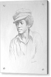 Michael In Cap Acrylic Print