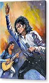 Acrylic Print featuring the painting Michael Jacksn In Concert by Al Brown