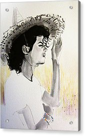 Michael Jackson - One Day In Your Life Acrylic Print by Hitomi Osanai