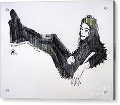 Michael Jackson - Turn It On Acrylic Print by Hitomi Osanai