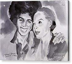 Michael Jackson - Wtih Diana Acrylic Print by Hitomi Osanai