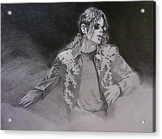 Michael Jackson - You Make Me Feel Acrylic Print by Hitomi Osanai
