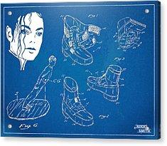 Michael Jackson Anti-gravity Shoe Patent Artwork Acrylic Print