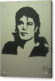 Michael Jackson Acrylic Print by Damian Howell