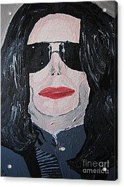 Michael Jackson King Of Pop Acrylic Print by Jeannie Atwater Jordan Allen