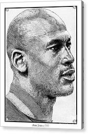 Michael Jordan In 1990 Acrylic Print by J McCombie