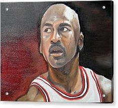 Michael Jordan Acrylic Print by Matt Burke
