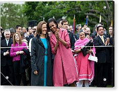 Michelle Obama And Mrs. Margarita Acrylic Print by Everett