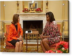 Michelle Obama And Queen Silvia Acrylic Print