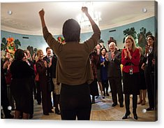 Michelle Obama Celebrates With Guests Acrylic Print by Everett