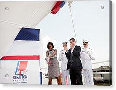 Michelle Obama Christens The Us Coast Acrylic Print