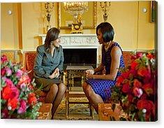 Michelle Obama Greets Mrs. Margarita Acrylic Print