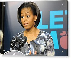 Michelle Obama Presents The Childhood Acrylic Print by Everett