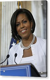 Michelle Obama Visited The Treasury Acrylic Print by Everett