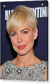 Michelle Williams At Arrivals For Blue Acrylic Print by Everett