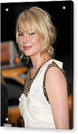 Michelle Williams Wearing A 3.1 Phillip Acrylic Print by Everett