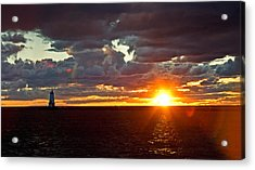 Acrylic Print featuring the photograph Michigan Sunset by Randall  Cogle