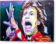 Mick Jagger Acrylic Print by Ken Huber