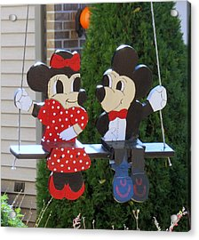 Mickey And Minnie Mouse Acrylic Print