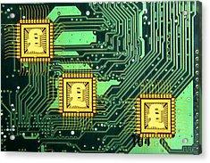 Microchip Sales, Conceptual Image Acrylic Print by Victor De Schwanberg
