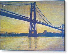 Mid-hudson Bridge Sunrise Acrylic Print by Samuel McMullen