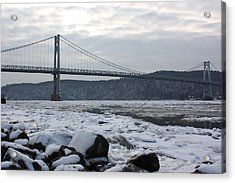 Mid-hudson In Winter Acrylic Print by Robert Rizzolo