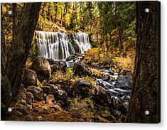 Acrylic Print featuring the photograph Middle Falls Mccloud River -2 by Randy Wood