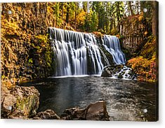Acrylic Print featuring the photograph Middle Falls Mccloud River by Randy Wood