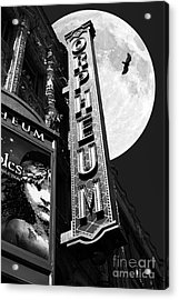 Midnight At The Orpheum - San Francisco California - 5d17991 - Black And White Acrylic Print