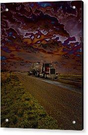 Midnight Deisel Acrylic Print by Bill Tiepelman