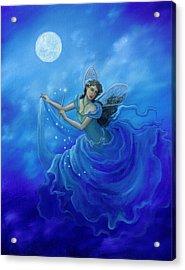 Midnight Fairy Acrylic Print by BK Lusk