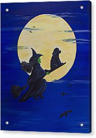 Acrylic Print featuring the painting Midnight Ride by Sharon Nummer