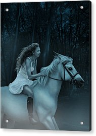 Acrylic Print featuring the photograph Midnight Ride Through The Forest by Ethiriel  Photography