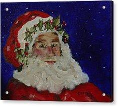 Midnight Santa Acrylic Print