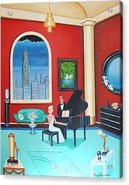 Midnight Serenade   Acrylic Print by Tracy Dennison