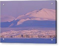 Midnight Sunlight On Polar Mountains Acrylic Print by Gordon Wiltsie