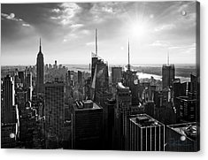 Midtown Skyline Infrared Acrylic Print