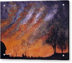 Acrylic Print featuring the painting Midwest Sunset by Stacy C Bottoms