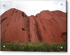 Acrylic Print featuring the photograph Mighty Uluru by Laurel Talabere