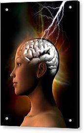 Migraine, Conceptual Artwork Acrylic Print by Victor Habbick Visions