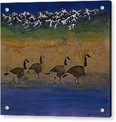 Migration Series Geese 2 Acrylic Print by Carolyn Doe