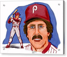 Mike Schmidt-color Acrylic Print by Chris  DelVecchio