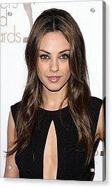 Mila Kunis At Arrivals For 2010 Writers Acrylic Print by Everett