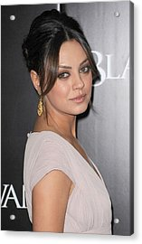 Mila Kunis At Arrivals For Black Swan Acrylic Print by Everett
