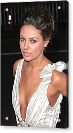 Mila Kunis At Arrivals For Max Payne Acrylic Print by Everett