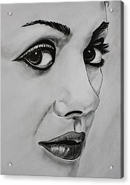 Acrylic Print featuring the drawing Mila by Michael Cross